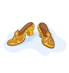 Magic shoes vector