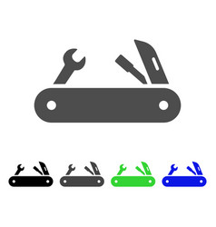 Multi-tools knife flat icon vector