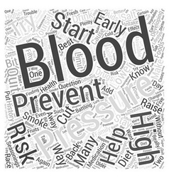 Preventing high blood pressure word cloud concept vector