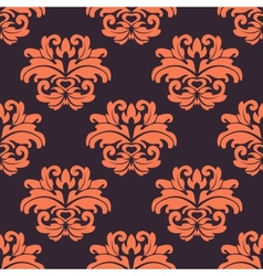 Purple and peach floral seamless pattern vector