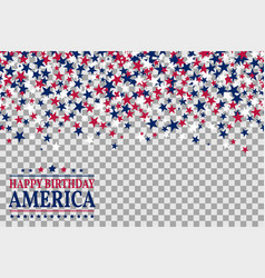 Seamless pattern with stars for 1st of july vector
