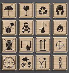 Set of packaging symbols vector