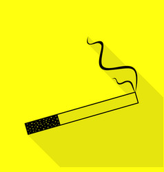 Smoke icon great for any use black icon with flat vector
