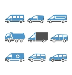 Transport Icons - A set of sixth vector image vector image