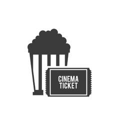 pop corn with cinematographic icon vector image