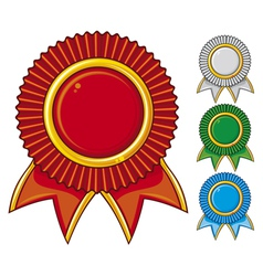 A collection of awards icon colored vector