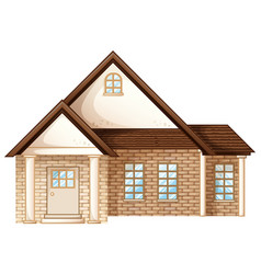 House builded with brick stones vector