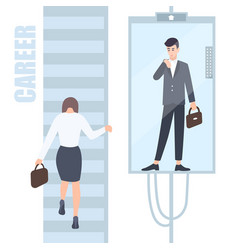 Gender inequality issues concept business woman vector