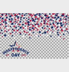 Seamless pattern with stars for 4th of july vector