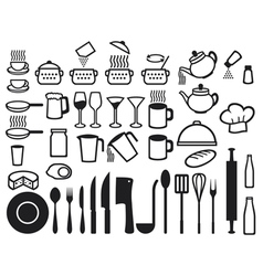 Kitchen icons set vector