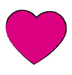 Pink love heart romance valentine beauty vector