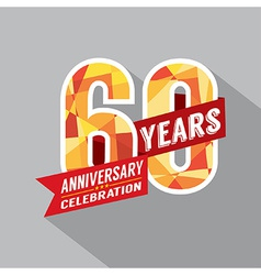 60th year anniversary celebration design vector