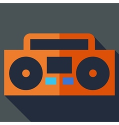 Modern flat design concept icon boom box tape vector