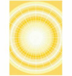 Yellow sun with grid vector