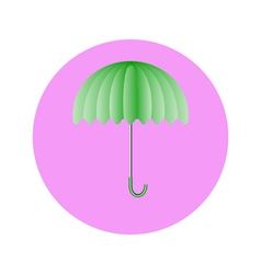Umbrella light green in circle vector