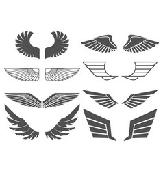 Wings set 2 vector