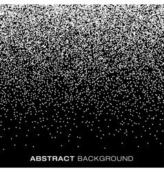 Abstract Halftone Snow Flake Dots Background vector image