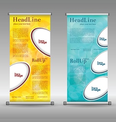 Mega collection of roll up banner design 2 vector