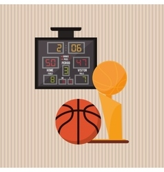 Colored basketball icon vector