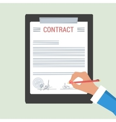 Concept hand signs contract vector