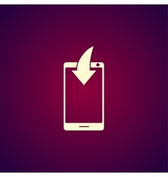 Mobile phone download icon vector