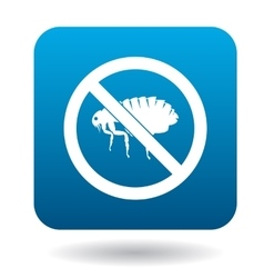 No flea sign icon simple style vector