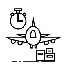 air logisticsfast delivery line icon sign vector image