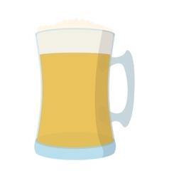 Beer mug cartoon icon vector