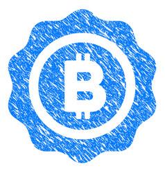 bitcoin seal grunge icon vector image vector image
