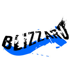Blizzard sticker stamp vector