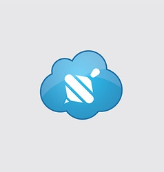 Blue cloud whirligig icon vector image vector image