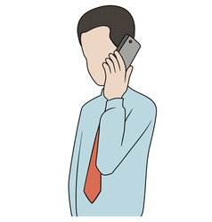 Businessman with phone vector image vector image