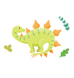 cartoon dinosaur isolated vector image