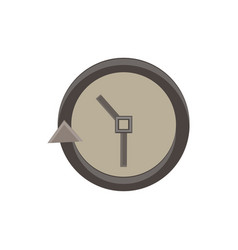 clock icon time simple face isolated watch symbol vector image vector image