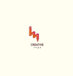 contour modern logo of a pencil vector image vector image