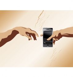 creation of Adam phone vector image