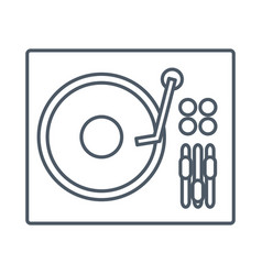 dj turntable symbol vector image