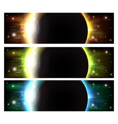 Eclipse banners vector
