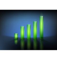 financial graph chart vector image vector image