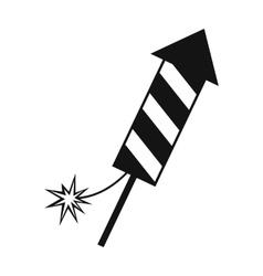 Firecracker christmas simple icon vector image