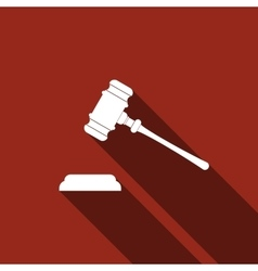 Gavel - hammer of judge or auctioneer icon vector