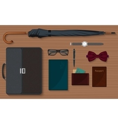 Gentlemen stuff design elements collection set vector image vector image
