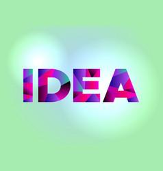 Idea concept colorful word art vector