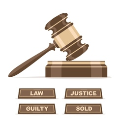 Judges gavel or auction hammer vector