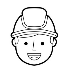 Man firefighter avatar character icon vector