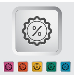 Percent label vector image vector image