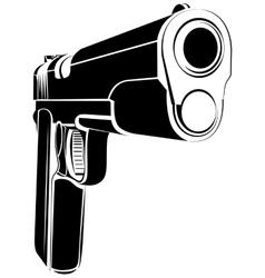 Pistol 1911 gun fire 45 caliber vector image