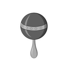Rattle icon black monochrome style vector image vector image