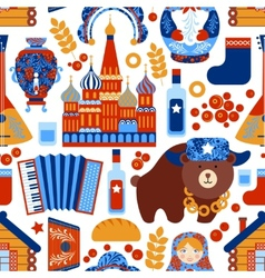 Russia travel seamless pattern vector image