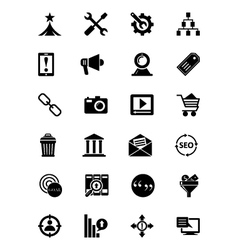SEO and Marketing Icons 2 vector image vector image